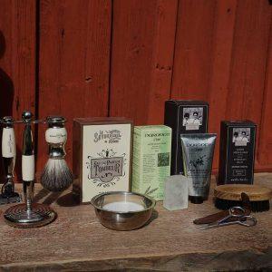 Kategori för mänprodukter. Rakhyvlar, rakborstar, After Shave, raktvål, trimsaxar med mera.